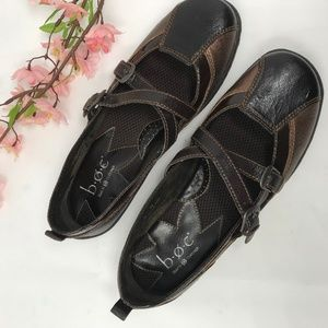 B.O.C Bronze Brown Mary Jane Shoes  Leather sz 10